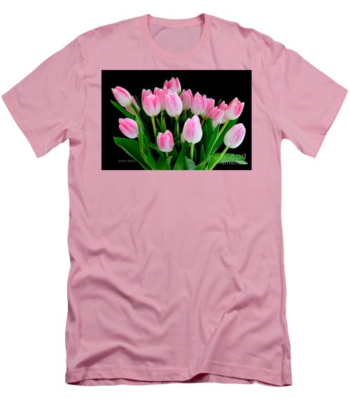 Easter Tulips  Men's T-Shirt (Slim Fit) by Jeannie Rhode