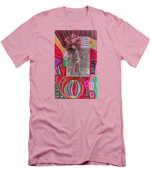 Men's T-Shirt (Slim Fit) featuring the painting Echinacea Herbal Tincture by Clarity Artists