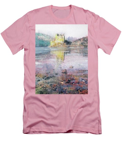 Men's T-Shirt (Slim Fit) featuring the painting Eilean Donan Castle  by Richard James Digance