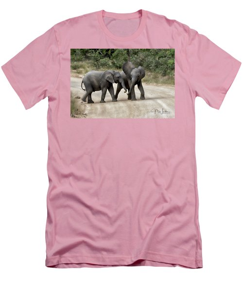 Elephants Childs Play Men's T-Shirt (Athletic Fit)