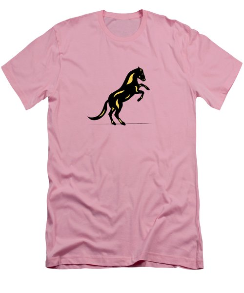 Emma II - Pop Art Horse - Black, Primrose Yellow, Pink Men's T-Shirt (Athletic Fit)