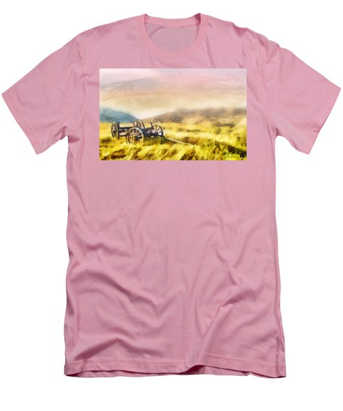 Men's T-Shirt (Slim Fit) featuring the painting Enduring Courage by Greg Collins
