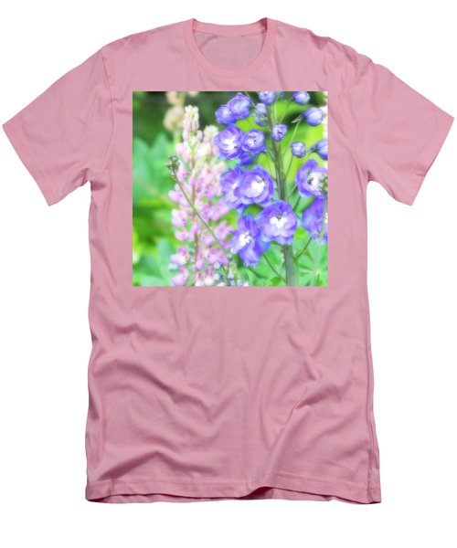 Men's T-Shirt (Slim Fit) featuring the photograph Escape To The Garden by Bonnie Bruno