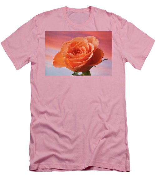Men's T-Shirt (Slim Fit) featuring the photograph Evening Rose by Terence Davis