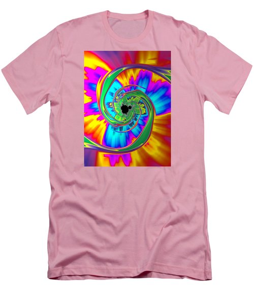 Men's T-Shirt (Slim Fit) featuring the photograph Eye Of The Rainbow by Ronda Broatch