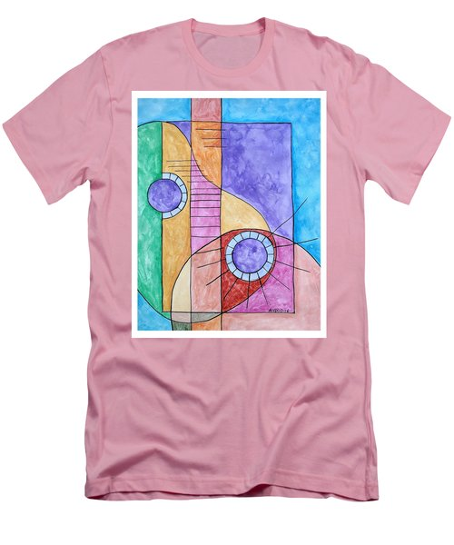Men's T-Shirt (Slim Fit) featuring the painting Fade Out by Edwin Alverio