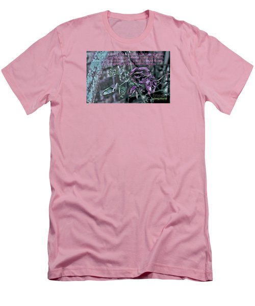 Men's T-Shirt (Slim Fit) featuring the photograph Fading Rose by Sandy Moulder