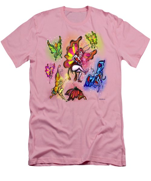 Faeries Men's T-Shirt (Slim Fit) by Kevin Middleton