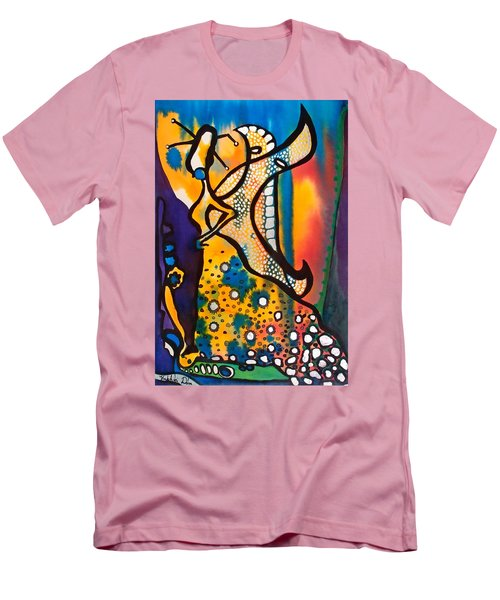 Men's T-Shirt (Slim Fit) featuring the painting Fairy Queen - Art By Dora Hathazi Mendes by Dora Hathazi Mendes