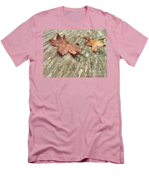 Men's T-Shirt (Athletic Fit) featuring the photograph Fallen Leaves by Peggy Hughes
