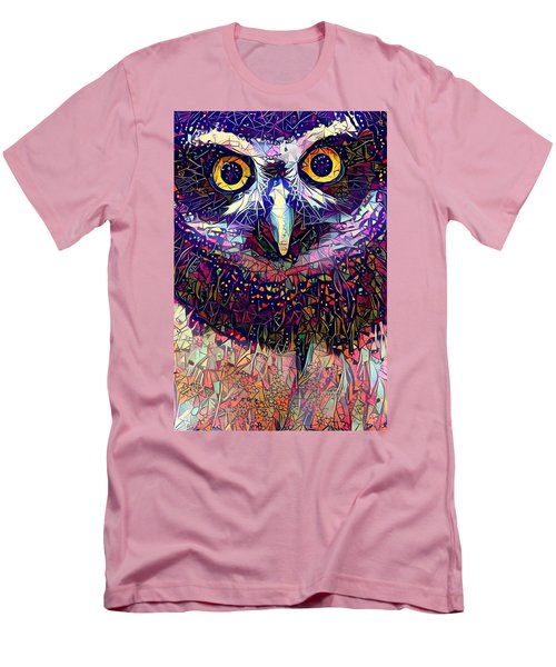 Men's T-Shirt (Slim Fit) featuring the photograph Feather Jeweled by Geri Glavis