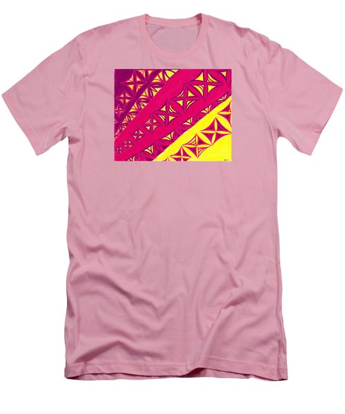 Men's T-Shirt (Slim Fit) featuring the drawing Fire Velvet Lace by Kim Sy Ok