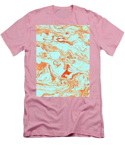 Flamingo And Sea Marble Men's T-Shirt (Slim Fit) by Uma Gokhale