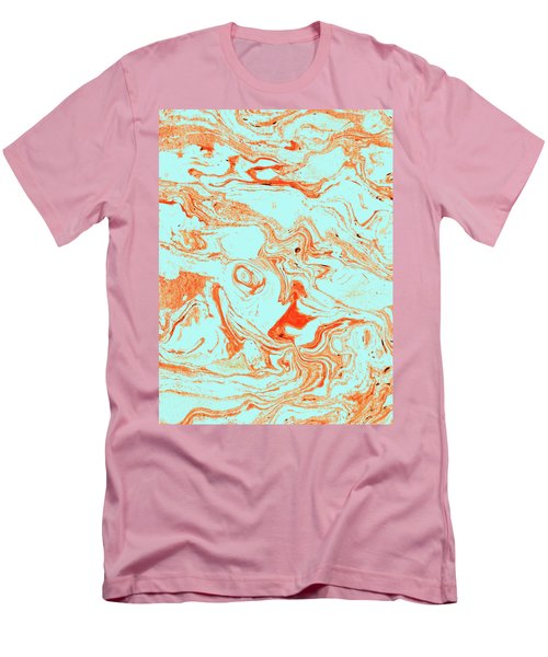 Flamingo And Sea Marble Men's T-Shirt (Athletic Fit)