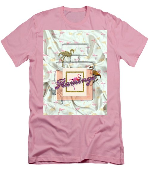Flamingo Men's T-Shirt (Slim Fit) by La Reve Design