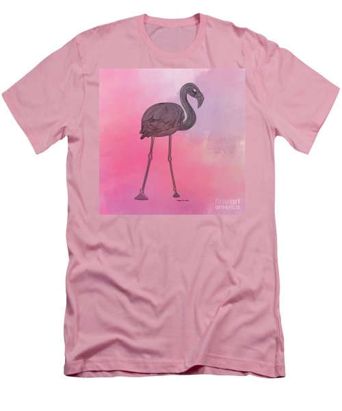 Flamingo5 Men's T-Shirt (Slim Fit) by Megan Dirsa-DuBois