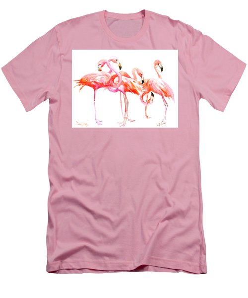 Flamingos Men's T-Shirt (Athletic Fit)