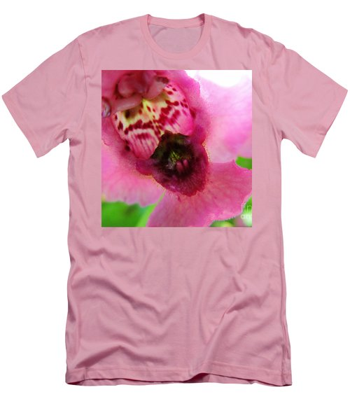 Floral Mask Men's T-Shirt (Athletic Fit)