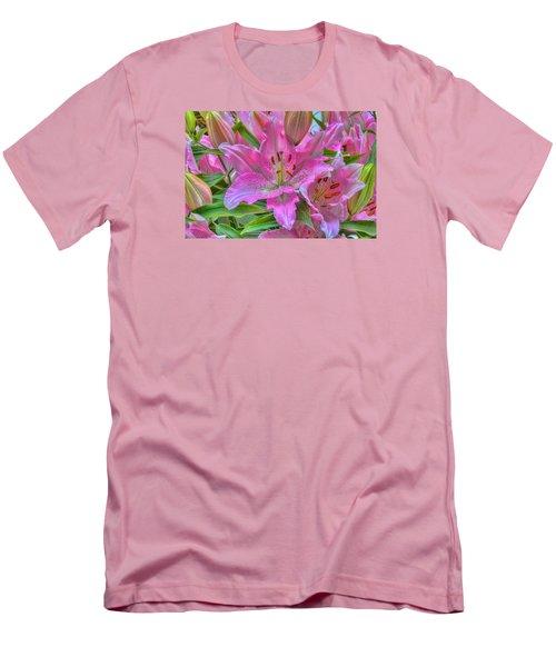 Flower Delight Men's T-Shirt (Slim Fit) by Nadia Sanowar