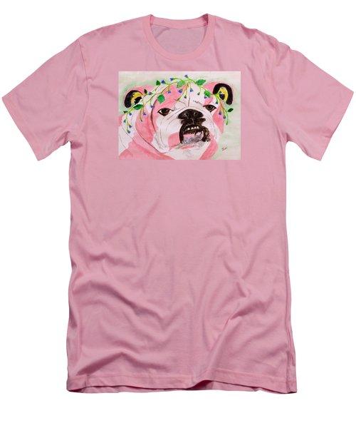 Flower Dog 3 Men's T-Shirt (Slim Fit) by Hilda and Jose Garrancho