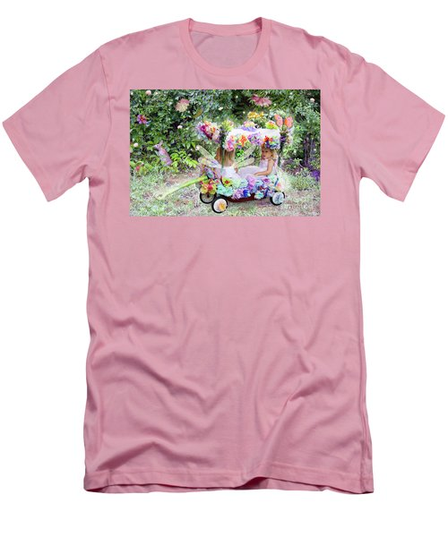 Flower Fairies In A Flower Mobile Men's T-Shirt (Athletic Fit)