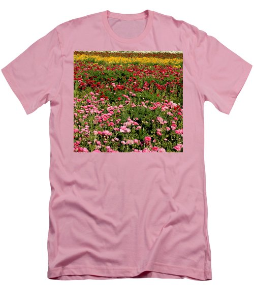 Flower Fields Men's T-Shirt (Slim Fit) by Christopher Woods