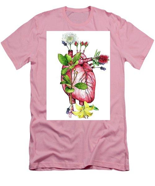 Flower Heart Men's T-Shirt (Athletic Fit)