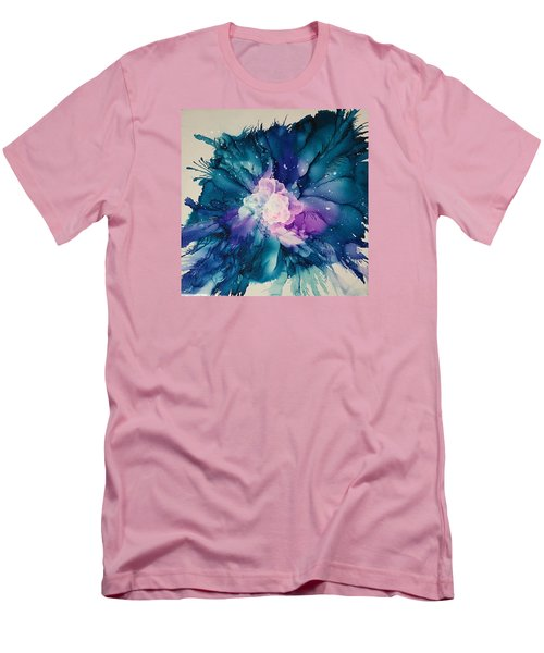 Men's T-Shirt (Slim Fit) featuring the painting Flower Power by Suzanne Canner