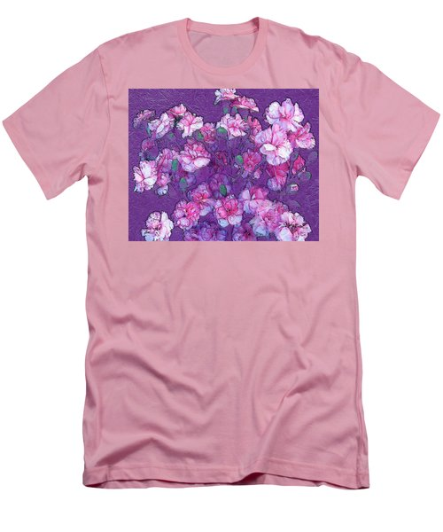 Flowers #063 Men's T-Shirt (Slim Fit) by Barbara Tristan