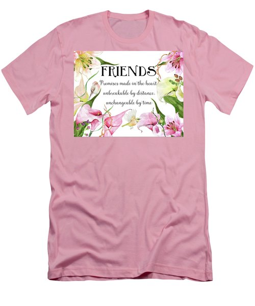 Flowers And Birds Men's T-Shirt (Athletic Fit)