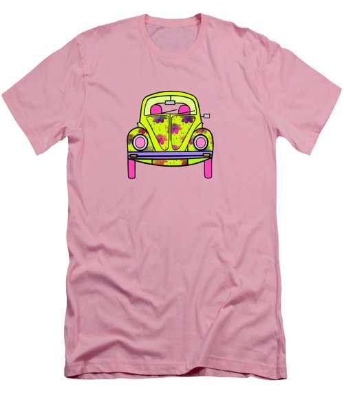 Flowers On Wheels Men's T-Shirt (Slim Fit) by Kathleen Sartoris
