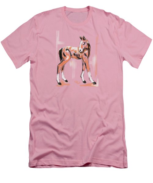 Foal Peach Men's T-Shirt (Athletic Fit)