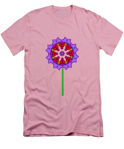 Fractal Flower Garden Flower 02 Men's T-Shirt (Athletic Fit)