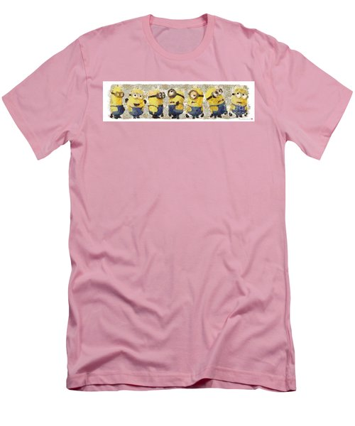 Fragmented And Still In Awe Congratulations Minions Men's T-Shirt (Slim Fit) by Catherine Lott