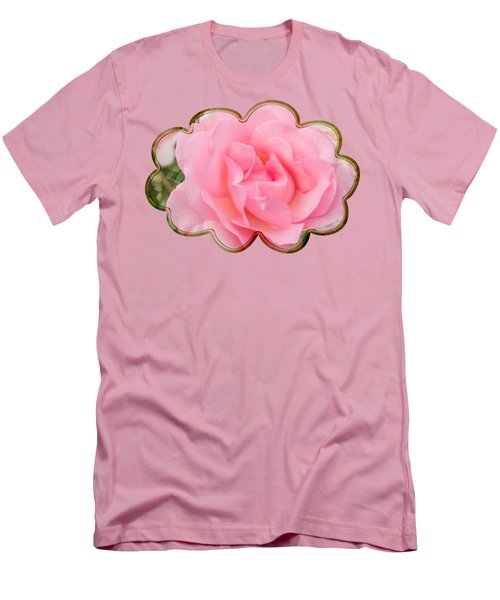 Fragrant Cloud Rose Men's T-Shirt (Slim Fit) by Jane McIlroy
