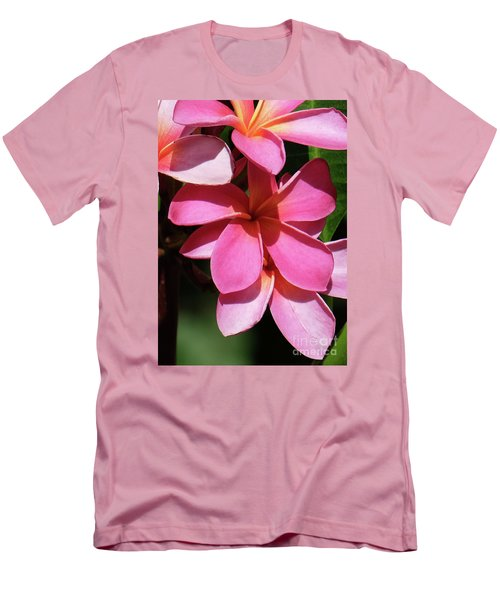 Frangipani Men's T-Shirt (Slim Fit) by Mini Arora