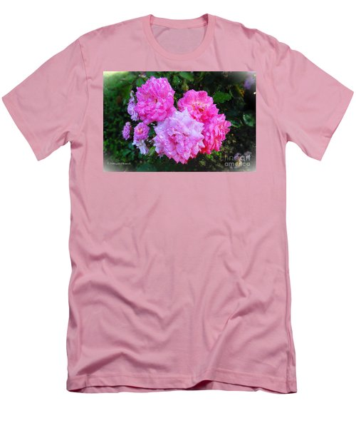 Frank's Roses Men's T-Shirt (Slim Fit) by MaryLee Parker