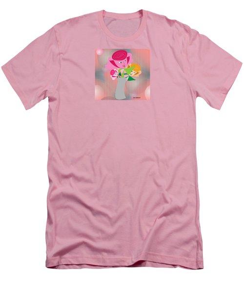 Friendly Flowers Men's T-Shirt (Athletic Fit)