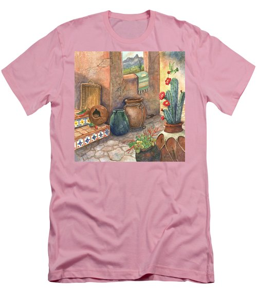 Men's T-Shirt (Slim Fit) featuring the painting From This Earth by Marilyn Smith