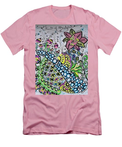 Fruit Of The Spirit Men's T-Shirt (Slim Fit) by Carole Brecht