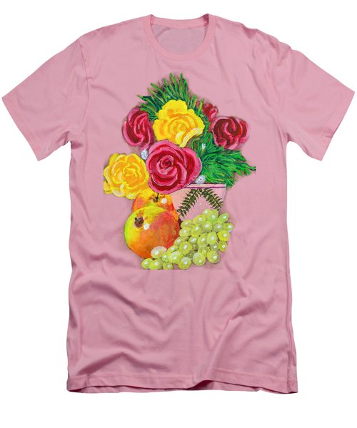 Fruit Petals Men's T-Shirt (Slim Fit) by Erich Grant