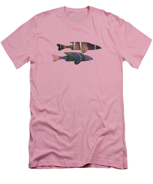 Fuchsia Fuchsia Men's T-Shirt (Athletic Fit)