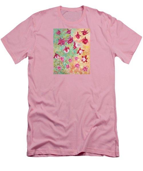 Fuchsias Men's T-Shirt (Slim Fit) by Elizabeth Lock