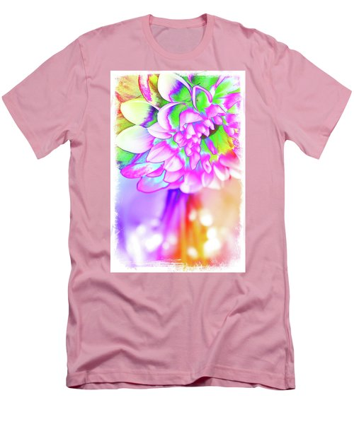 Funky Dahlia Men's T-Shirt (Athletic Fit)