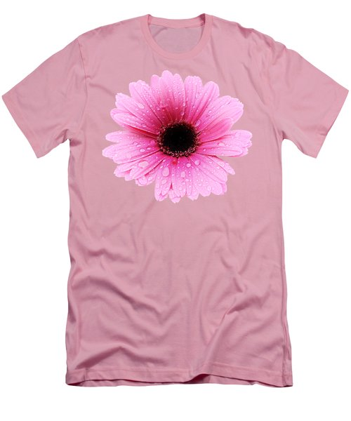 Gerbera Pink - Daisy - Up Close Men's T-Shirt (Athletic Fit)