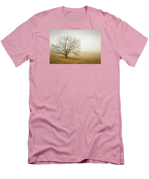 Tree In Fog - Blue Ridge Parkway Men's T-Shirt (Athletic Fit)