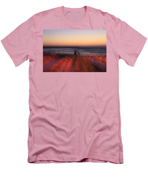 Ghost On A Beach. Men's T-Shirt (Athletic Fit)