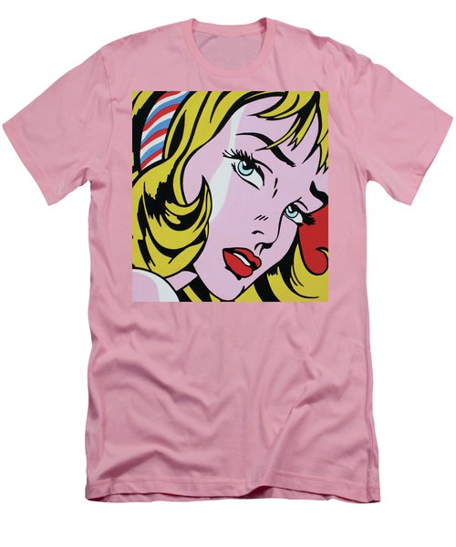 Girl With Ribbon Men's T-Shirt (Slim Fit) by Luis Ludzska