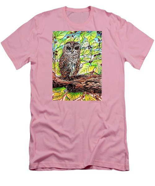 Give A Hoot Men's T-Shirt (Slim Fit) by Patricia L Davidson
