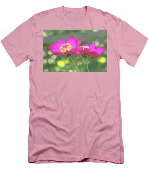 Men's T-Shirt (Athletic Fit) featuring the photograph Glow Blossoms by Deborah  Crew-Johnson